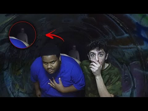 WE GOT ATTACKED AND CHASED OUT OF THE HAUNTED TUNNEL... (holy sh*t)