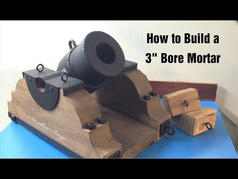 """Homemade 3"""" Bore Mortar (Cannon) Swallow Forge"""