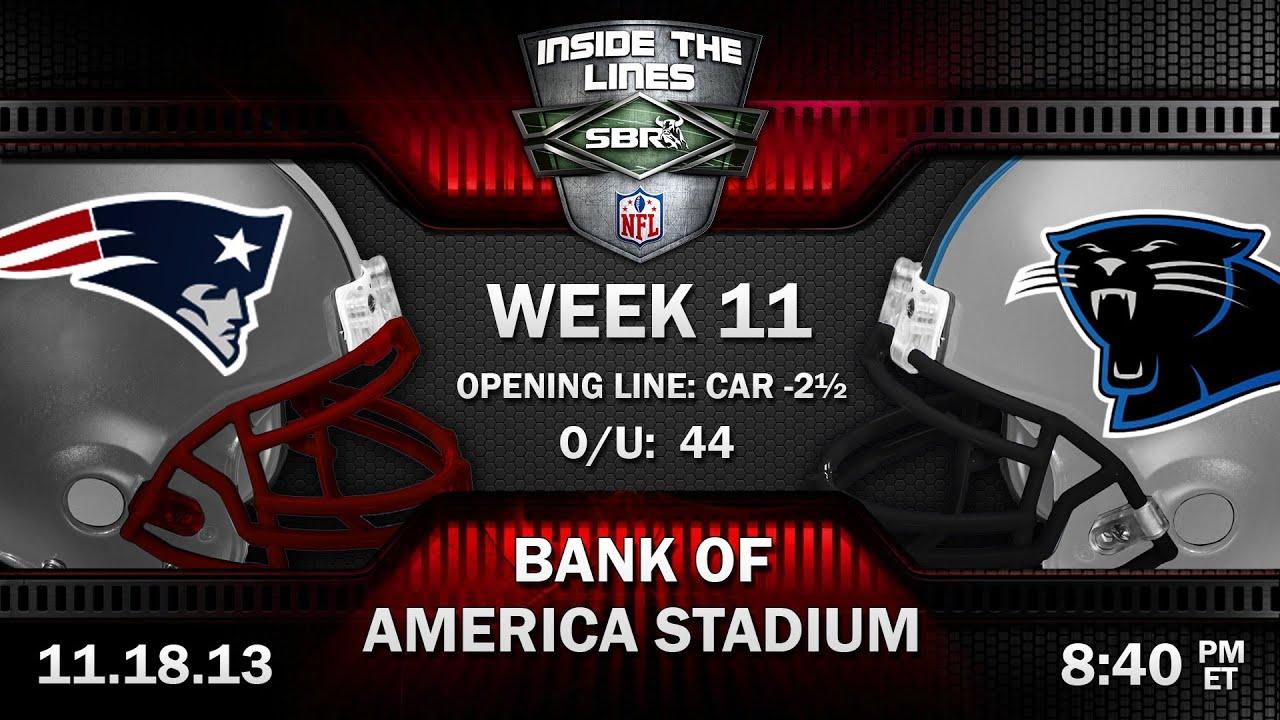 New England Patriots vs Carolina Panthers NFL Week 11 ...