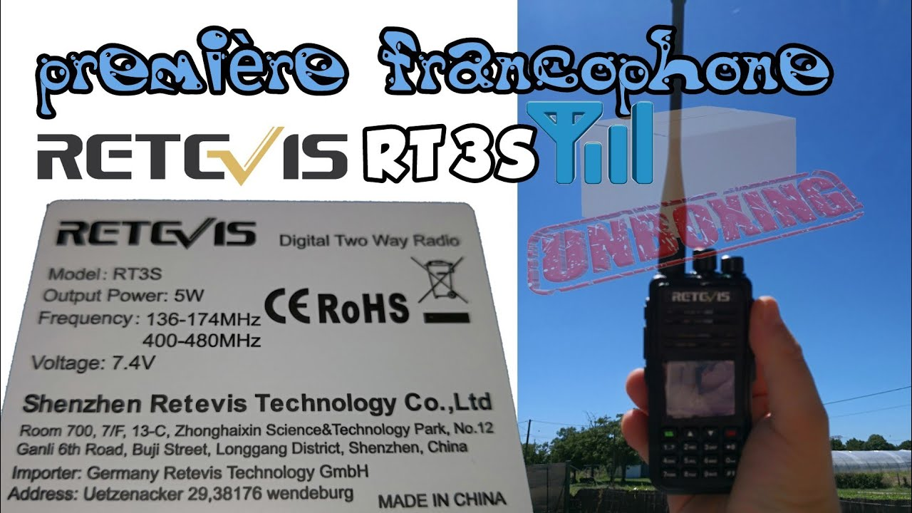 Unboxing Retevis RT3S Dual Band(UHF/VHF) DMR Walkie Talkie Upgraded