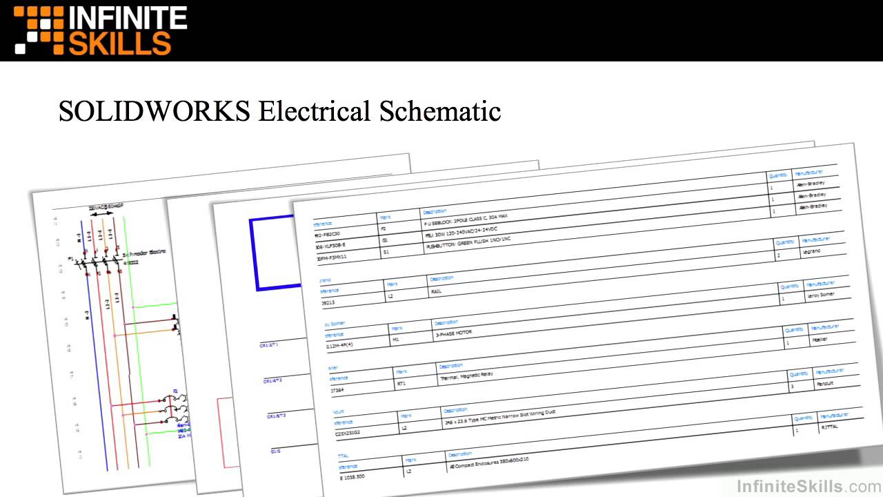 solidworks electrical schematic fundamentals tutorial rh youtube com Simple Electrical Schematic Basic Electrical Schematic Diagrams