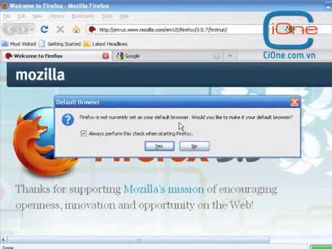 Hướng dẫn cài đặt trình duyệt web Mozilla Firefox và Google Chrome