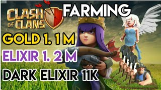 Farming|| Queen walk with miners|| Clash of clans