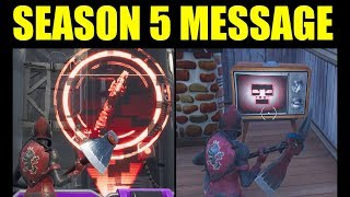 New Message On Fortnite Tv Screen What Is the RED SKULL? Fortnite Season 5 Incoming