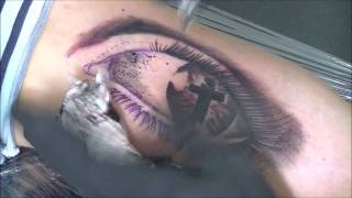 Eye of the believer tattoo - time lapse