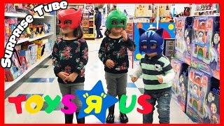 The kids have fun at Toys R Us