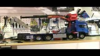 Tamiya Scania with Palfinger crane