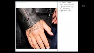 Tato baru David Beckham terinspirasi dari lagu Jay Z