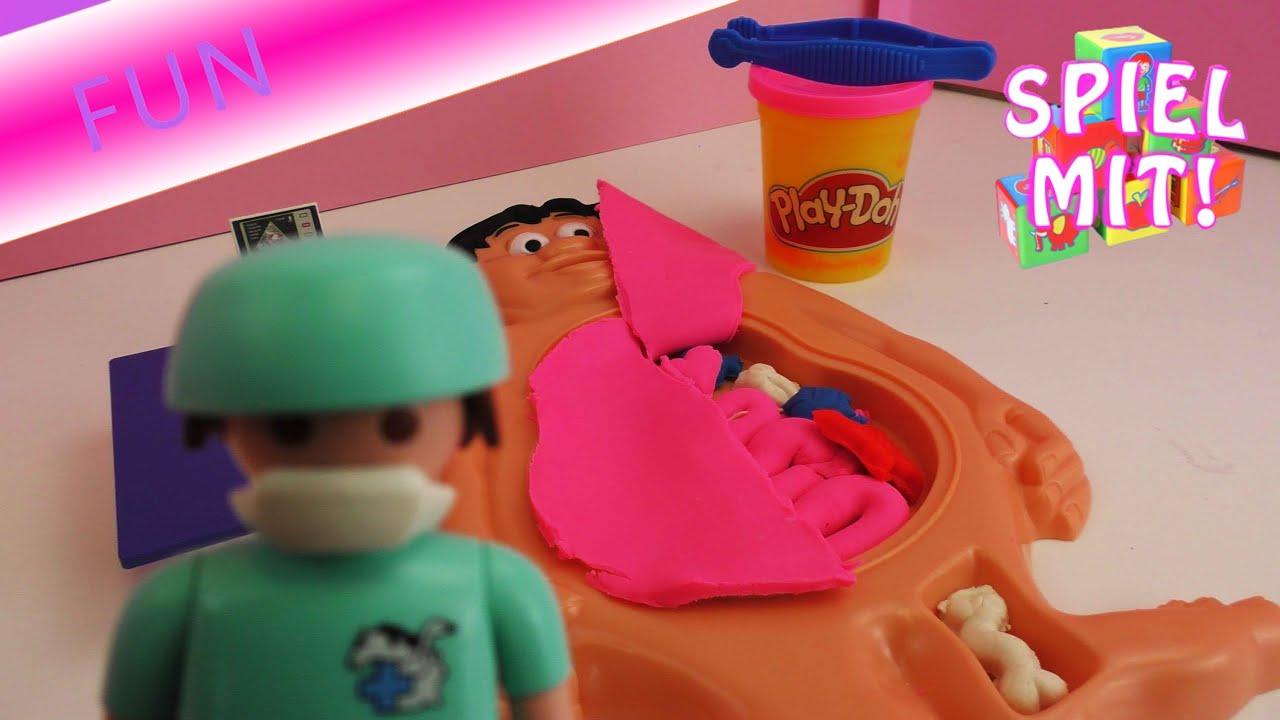 Play Doh Doktor Und Playmobil Arzt Der Patient Braucht Organe