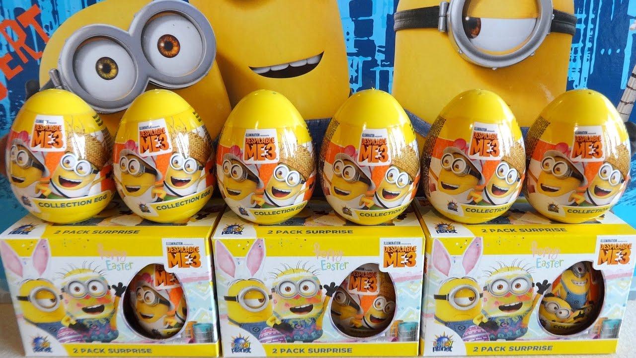 Sticker unboxing - 2017 Despicable Me 3 Movie 12 Surprise Eggs Toys