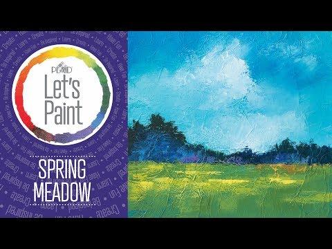 FolkArt Studio Let's Paint – Spring Meadow