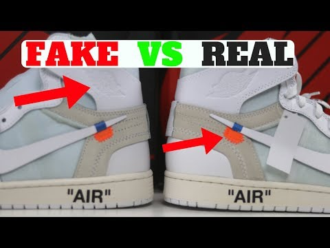 f2718b1cc4 FAKE vs REAL: Air Jordan 1 Retro x Off-White Detailed Comparison! - YouTube