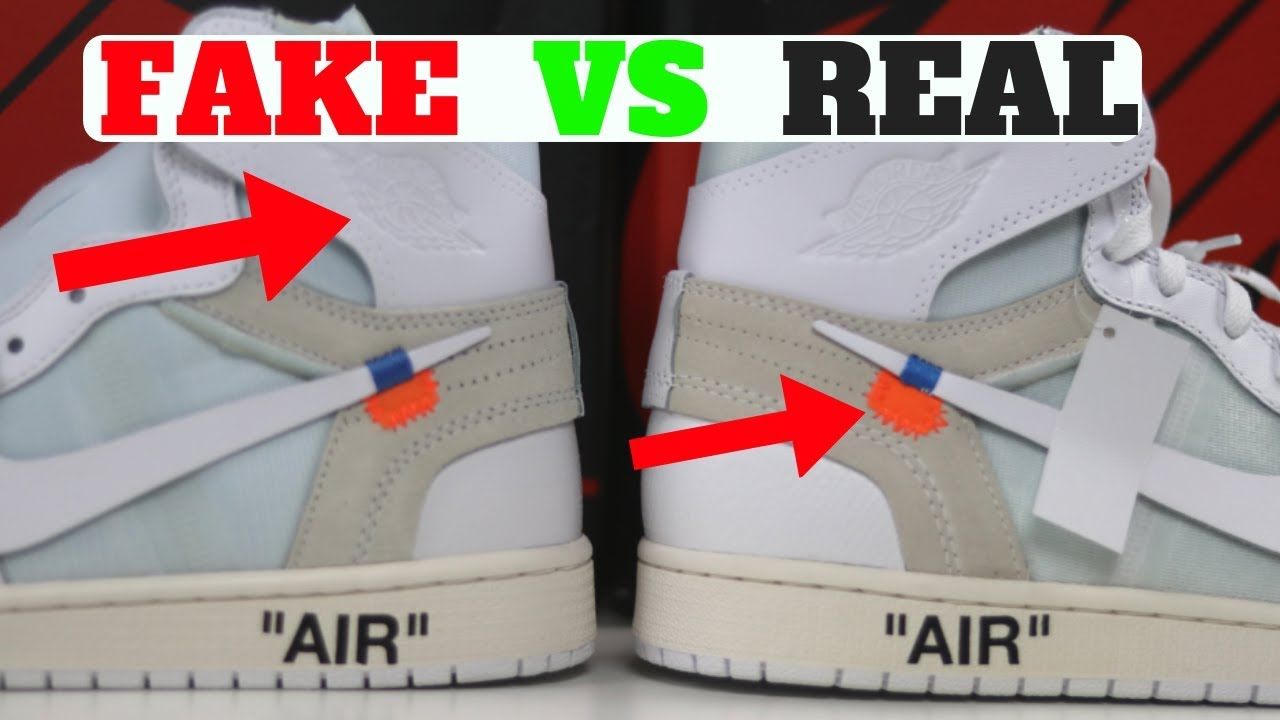 Next To Real Retro S Fake Retro S: FAKE Vs REAL: Air Jordan 1 Retro X Off-White Detailed