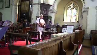 Phil Martin (Drohne) playing The Hooden Horse at St Nicholas-at-Wade church