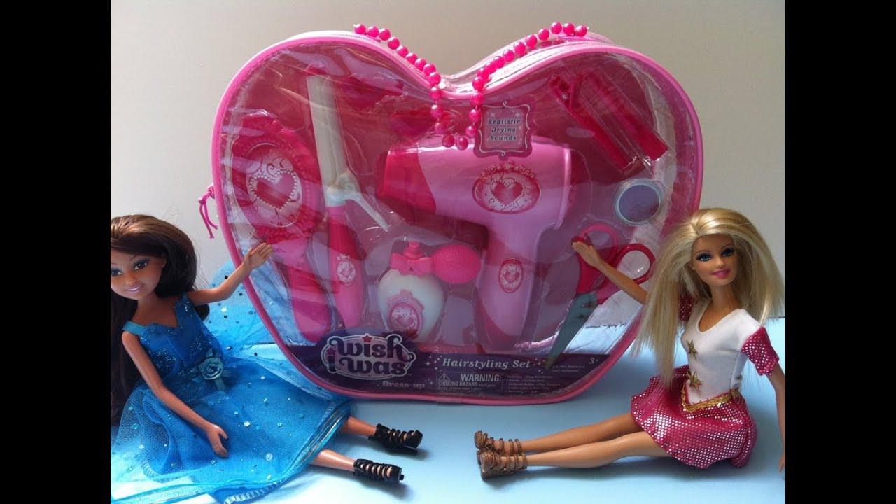 Bộ Đồ Chơi Làm Tóc Cho Búp Bê Barbie Của Mỹ (Bí Đỏ) Hair styling Set Barbie Barbie  ชุดจัดแต่งทรงผม