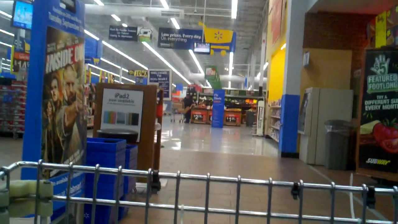 Shopping at walmart men grocery