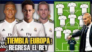 La PODEROSA Alineación SOÑADA del Real Madrid para la próxima temporada