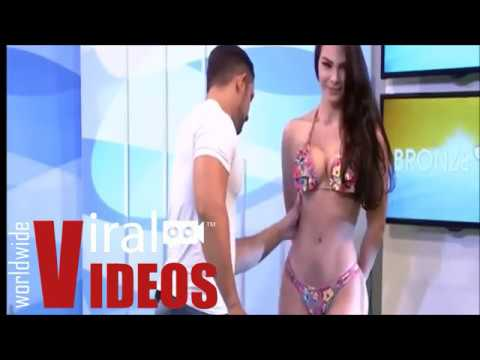 Brazilian woman prank big ass Tv Presenter Slapped By Brazilian Bikini Model For Touching Her Butt Youtube
