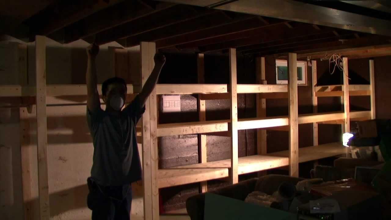 Building a Basement Shelf (Time Lapse) - YouTube