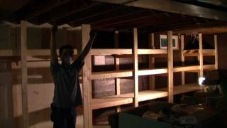 Building A Basement Shelf (time Lapse)