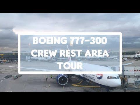 Boeing 777 300 Crew Rest Area Tour Youtube