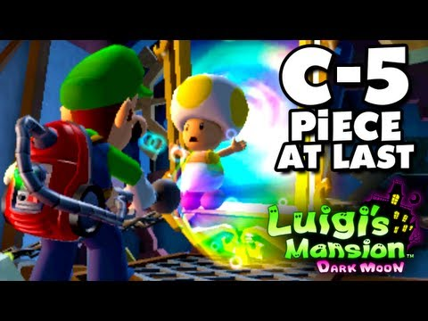 Luigi's Mansion Dark Moon - Old Clockworks - C-5 Piece At Last (Nintendo 3DS Gameplay Walkthrough)