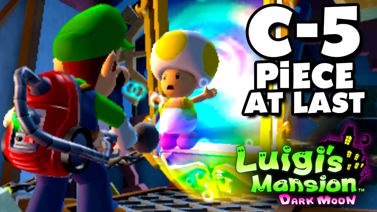 Luigi S Mansion Dark Moon Old Clockworks C 5 Piece At Last Nintendo 3ds Gameplay Walkthrough