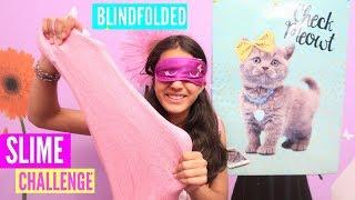 BLINDFOLDED SLIME CHALLENGE!!! Making Slime Blindfolded
