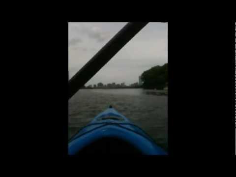 Kayaking the Charles River, Boston