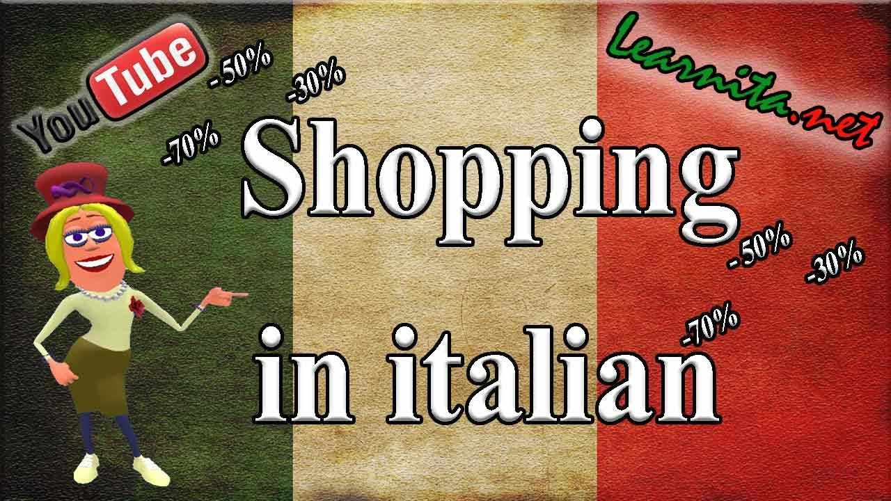 watch 9bf43 d114c Phrases for shopping in italian - Video lesson with subtitles