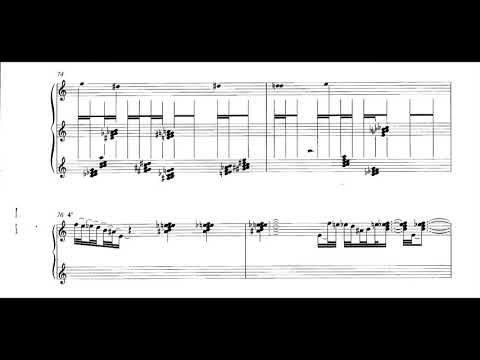 Iannis Xenakis - Naama for Harpsichord (1984) [Score-Video]
