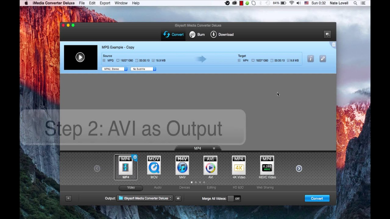 iskysoft imedia converter deluxe for windows