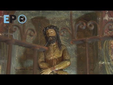 La pintura hallada en la capilla del Ecce Homo oscuro podría ser del siglo XVII
