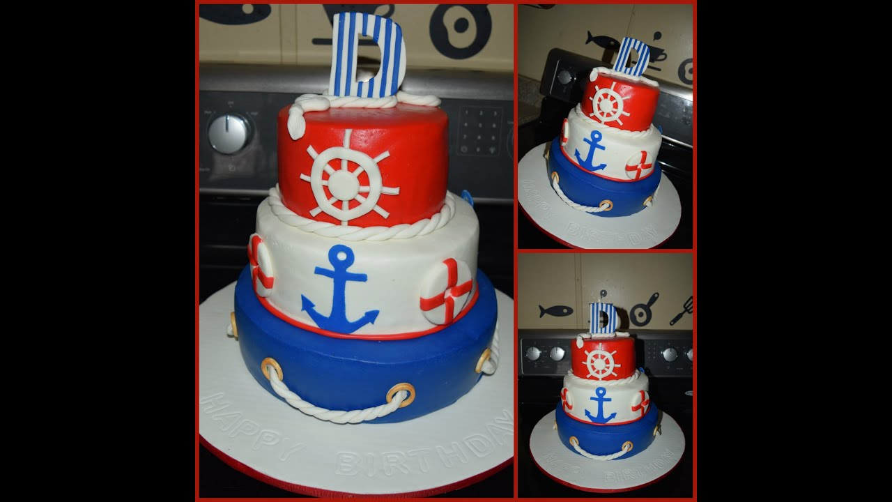 Nautical Themed Cake Pastel Nutico Youtube