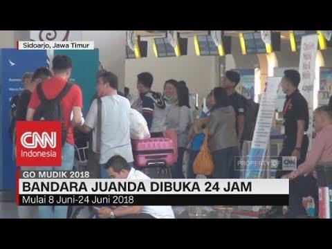 Musim Mudik & Balik Lebaran 8 - 24 Juni 2018, Bandara Juanda Dibuka 24 Jam