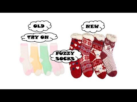 100% äkta erbjuda rabatter senaste rabatt 12-pk Fuzzy Crew Socks - YouTube
