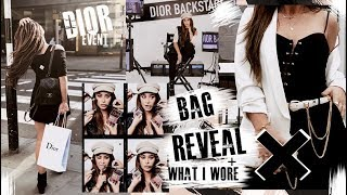Bag REVEAL! + What I wore to Dior backstage event meeting Bella Hadid!