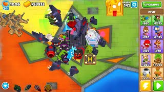 Using the vengeful sun god in bloons td 6 (this guy is crazy)