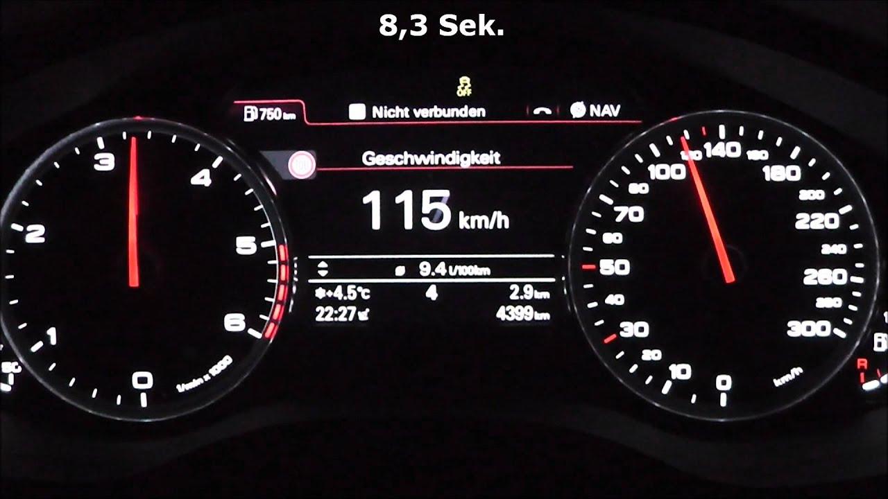 Audi A6 Limousine 2 0 Tdi 177 Ps 0 100 Km H Acceleration