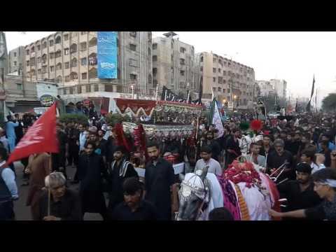 Karachi Chehlum/Arbaeen Juloos's head crossing Radio Pakistan chowk