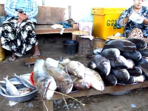 Morning Market in Bagan Myanmar Burma Fish Rice Fruit Vegetables Meat - Phil in Bangkok
