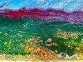 Acrylic Pour Painting: Blue Sky Landscape Double Swipe Technique