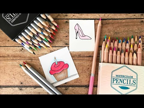Leisure Arts Review - Watercolor & Colored Pencils
