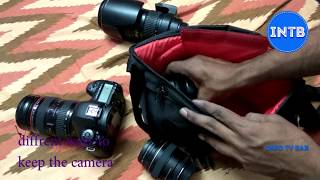 Eos Camera Bag Unboxing and Review and (How to place the Camera with different Lens)