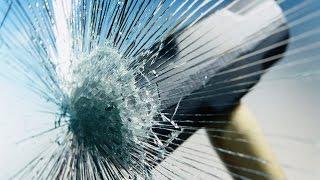 САМЫЙ интересный способ разбить большой стеклопакет !!! A fun way to break glass unit!(, 2015-04-10T05:06:10.000Z)