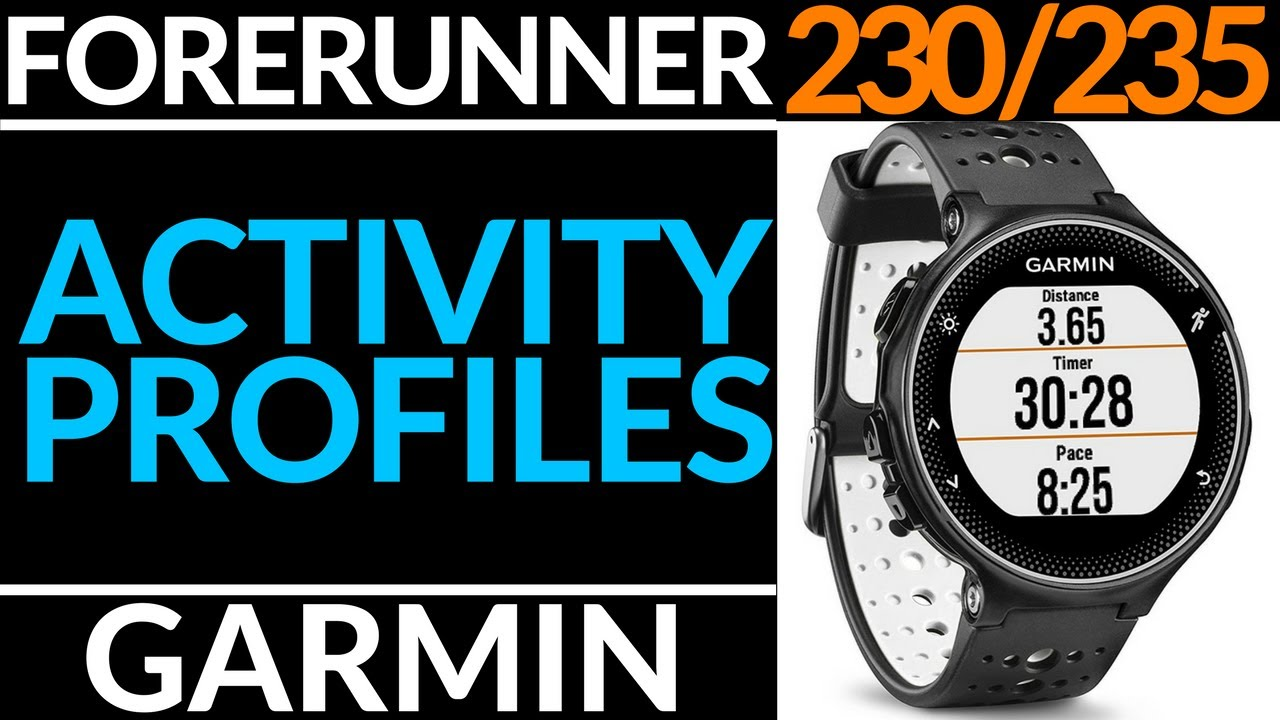 How To Change Activity Profiles Run Bike And Other Garmin