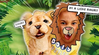 Cali Turns into a Lion! Kids Pretend Play | FamousTubeKIDS