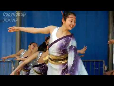 4K 女子小学生のアクロバテックなダンス・踊り(池袋祭り)