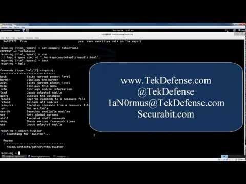 TekTip ep26 - Information Gathering with recon-ng