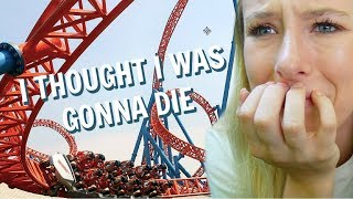 FACING MY BIGGEST FEARS! (roller coasters, flume rides, and tower of terror)